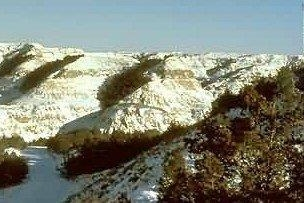 ND Badlands in Winter